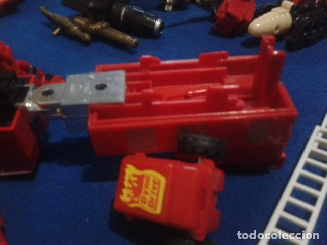 Figuras y Muñecos Transformers: FIGURA TRANSFORMERS G1 KO ( MC TOYS - CAMION DE BOMBEROS CON MECANISMO DE TRACCION ) DE LOS 80 - Foto 10 - 177322139