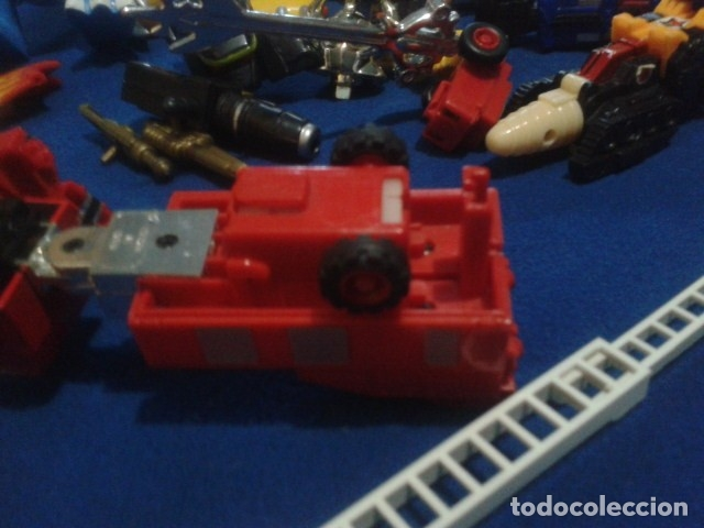 Figuras y Muñecos Transformers: FIGURA TRANSFORMERS G1 KO ( MC TOYS - CAMION DE BOMBEROS CON MECANISMO DE TRACCION ) DE LOS 80 - Foto 11 - 177322139