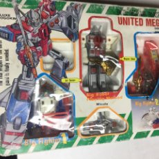 Figuras y Muñecos Transformers: ROBOT Y NAVES TRANSFORMES - UNITED MEGATANK - BIG ROBOT - PLAYING NETHOD - 29X20.5CM - SIN ABRIR. Lote 185674915