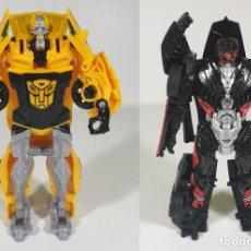 Figuras y Muñecos Transformers: BUMBLEBEE Y HOT ROD 1-STEP TURBO CHANGER - SET EXCLUSIVO DE WALMART - TRANSFORMERS THE LAST KNIGHT. Lote 185781826