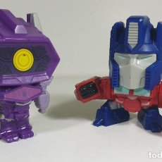 Figuras y Muñecos Transformers: SHOCKWAVE & OPTIMUS - TRANSFORMERS MCDONALDS HAPPY MEAL. Lote 185783007