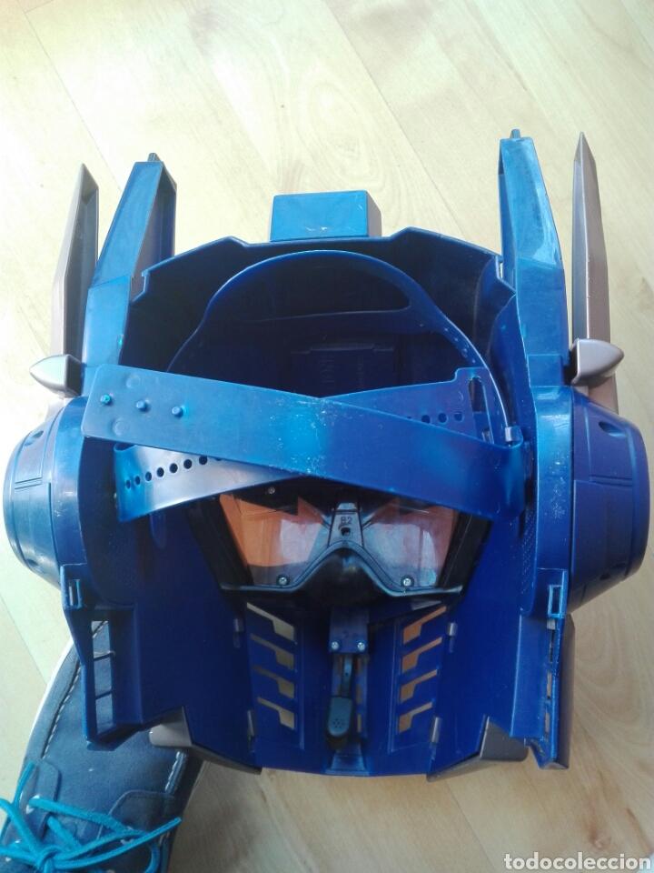 Figuras y Muñecos Transformers: Mascara casco Optimus Prime Transformers con sonido y frases - Foto 2 - 192701665