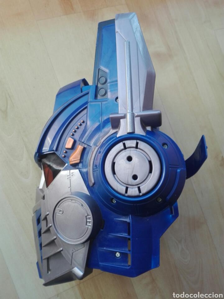 Figuras y Muñecos Transformers: Mascara casco Optimus Prime Transformers con sonido y frases - Foto 3 - 192701665