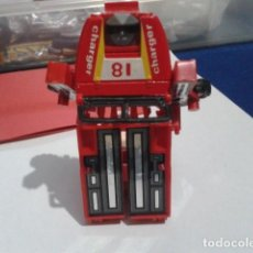 Figuras y Muñecos Transformers: FIGURA ANTIGUA TRANSFORMER MC TOY DYNA-BOT ROBOT GOBOT RED JEEP ACTION . Lote 193277317