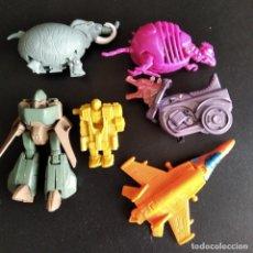 Figuras y Muñecos Transformers: LOTE DE 6 ROBOTS TRANSFORMERS DE LOS 80- CON: ROBOT METAL, HUEVO MONSTRUO.... Lote 196622737