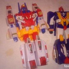 Figuras y Muñecos Transformers: 2 ROBOTS: STAR SABER (TRANSFORMERS) Y FIGHBIRD (YUUSSHA DX??) SERIE JAPONESA PARECIDA A TRANSFORMERS. Lote 199988667