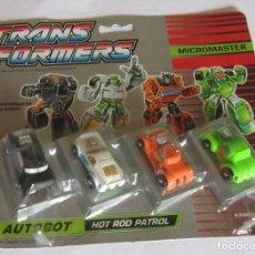 Figuras y Muñecos Transformers: TRANSFORMERS, MICROMASTER, HOT ROD PATROL, DE HASBRO, EN BLISTER. CC. Lote 207157265