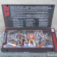 Figuras y Muñecos Transformers: TRANSFORMERS PLATINUM EDITION. PLANET OF JUNK CLASH. CAJA SIN ABRIR. 3 FIGURAS. HASBRO.. Lote 207719476