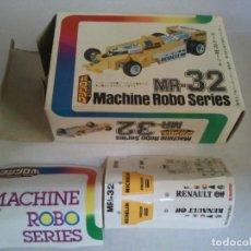 Figuras y Muñecos Transformers: MACHINE ROBO SERIE MR-32 RENAULT ATENCION SE VENDE LA CAJA VACIA Y PEGATINAS,NO LLEVA EL COCHE. Lote 209296711