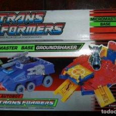 Figuras y Muñecos Transformers: TRANSFORMERS MICROMASTER BASE GROUNDSHAKER. 1990 MB ESPAÑA. AUTOBOT. EL TANQUE SE TRANSFORMA EN BASE. Lote 210657735