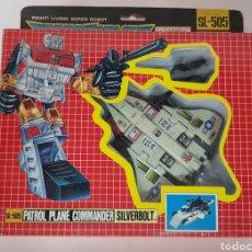 Figuras y Muñecos Transformers: ROBOT TRANSFORMER PATROL PLANE COMMANDER, SILVERBOLT, EN CAJA. Lote 211256859