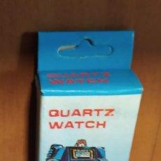 Figuras y Muñecos Transformers: RELOJ AZUL TRANSFORMERS, NUEVO, SIN USO, QUARTZ WATCH ROBOT BOOTLEG JUGUETE VINTAGE AÑOS 80. Lote 211640385