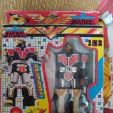 Figuras y Muñecos Transformers: ROBOT TRANSFORMER FIGHTER MAN POWER RANGERS 1 IN 2 AÑOS 80 TAIWAN EN SU CAJA. Lote 211651489