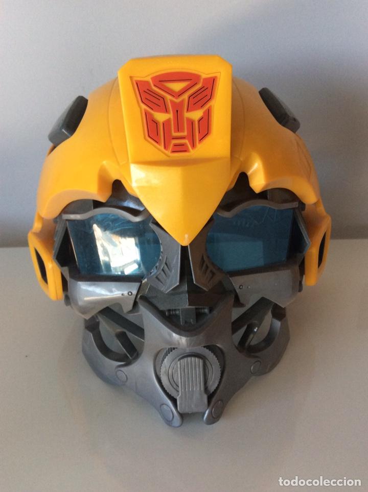 MÁSCARA TRANSFORMERS CON VOZ BUMBLEBEE FUNCIONANDO. (Juguetes - Figuras de Acción - Transformers)