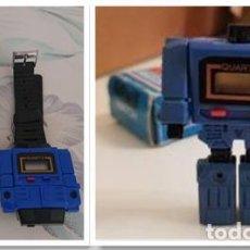 Figuras y Muñecos Transformers: JOYA COLECCIONISTAS RELOJ AZUL NUEVO QUARTZ WATCH ROBOT BOOTLEG TRANSFORMERS JUGUETE VINTAGE AÑOS 80. Lote 217650305
