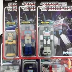 Figuras y Muñecos Transformers: FIGURAS TRANSFORMERS REACTION SUPER7 SET COMPLETO. Lote 217900328