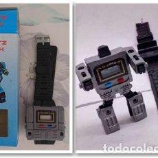 Figuras y Muñecos Transformers: JOYA COLECCIONISTAS RELOJ GRIS NUEVO QUARTZ WATCH ROBOT BOOTLEG TRANSFORMERS JUGUETE VINTAGE AÑOS 80. Lote 218326650
