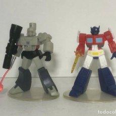 Figuras y Muñecos Transformers: TRANSFORMERS SET MINI FIGURAS OPTIMUS HACHA Y MEGATRON MAZA A ESTRENAR !!!. Lote 218474016