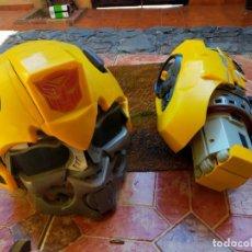 Figuras y Muñecos Transformers: ANTIGUO CASCO Y PIEZAS DE TRANSFORMER AÑO 2010. Lote 220579332