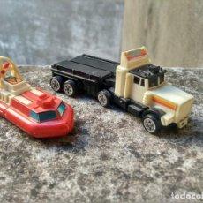 Figuras y Muñecos Transformers: LOTE DE ANTIGUOS TRANSFORMER - CAMIÓN Y LANCHA ACUÁTICA. Lote 221257745
