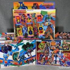 Figuras y Muñecos Transformers: LOTE X 3 BLISTER TRANSFORMERS AÑOS 80 - BIRD ROBO - CONSTRUCTION BOT - SUPER LIVE MAN - NUEVOS. Lote 222527061