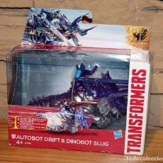 Figuras y Muñecos Transformers: TRANSFORMERS AUTOBOT DRIFT & DINOBOT SLUG - NUEVO A ESTRENAR - HASBRO. Lote 222584207
