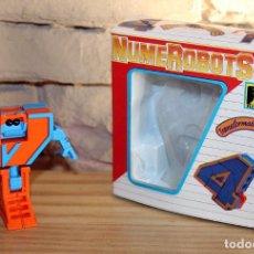 Figuras y Muñecos Transformers: NUMEROBOTS - ROBOT TRANSFORMABLE - NUMERO 4 - RIMA - EN SU CAJA ORIGINAL - AÑOS 80. Lote 222798490