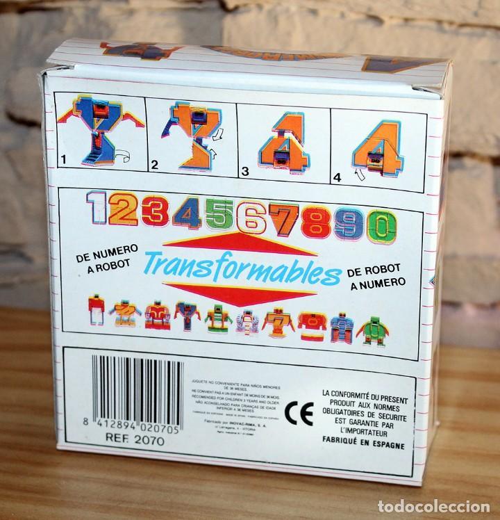 Figuras y Muñecos Transformers: NUMEROBOTS - ROBOT TRANSFORMABLE - NUMERO 4 - RIMA - EN SU CAJA ORIGINAL - AÑOS 80 - Foto 6 - 222798490