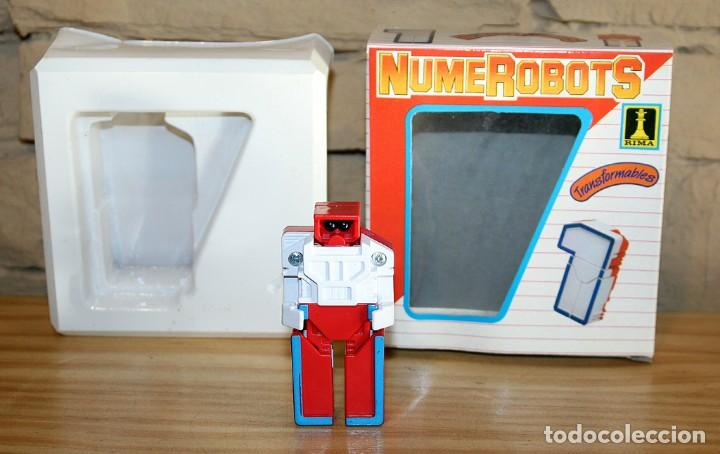 Figuras y Muñecos Transformers: NUMEROBOTS - ROBOT TRANSFORMABLE - NUMERO 1 - RIMA - EN SU CAJA ORIGINAL - AÑOS 80 - Foto 2 - 222798662