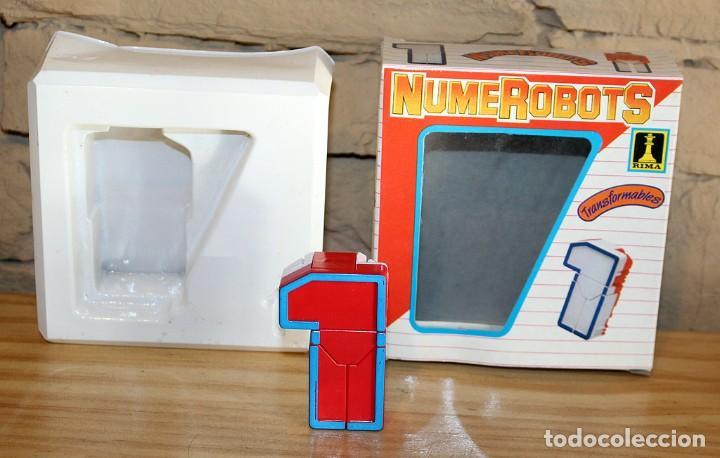Figuras y Muñecos Transformers: NUMEROBOTS - ROBOT TRANSFORMABLE - NUMERO 1 - RIMA - EN SU CAJA ORIGINAL - AÑOS 80 - Foto 3 - 222798662