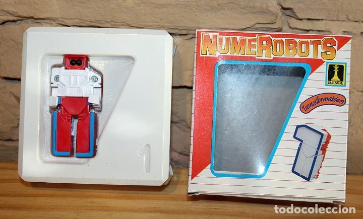 Figuras y Muñecos Transformers: NUMEROBOTS - ROBOT TRANSFORMABLE - NUMERO 1 - RIMA - EN SU CAJA ORIGINAL - AÑOS 80 - Foto 6 - 222798662