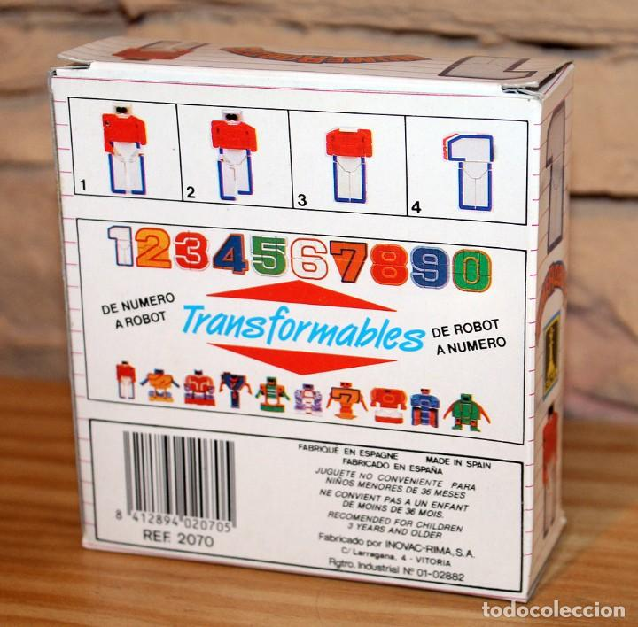 Figuras y Muñecos Transformers: NUMEROBOTS - ROBOT TRANSFORMABLE - NUMERO 1 - RIMA - EN SU CAJA ORIGINAL - AÑOS 80 - Foto 8 - 222798662