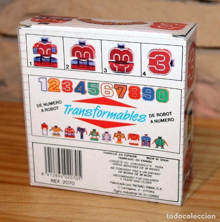 Figuras y Muñecos Transformers: NUMEROBOTS - ROBOT TRANSFORMABLE - NUMERO 3 - RIMA - EN SU CAJA ORIGINAL - AÑOS 80 - Foto 8 - 222798710
