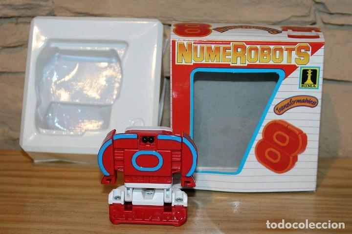 Figuras y Muñecos Transformers: NUMEROBOTS - ROBOT TRANSFORMABLE - NUMERO 8 - RIMA - EN SU CAJA ORIGINAL - AÑOS 80 - Foto 2 - 222798761