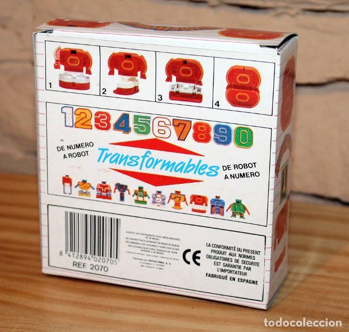 Figuras y Muñecos Transformers: NUMEROBOTS - ROBOT TRANSFORMABLE - NUMERO 8 - RIMA - EN SU CAJA ORIGINAL - AÑOS 80 - Foto 5 - 222798761