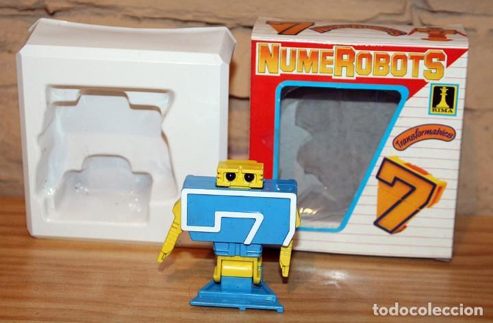 Figuras y Muñecos Transformers: NUMEROBOTS - ROBOT TRANSFORMABLE - NUMERO 7 - RIMA - EN SU CAJA ORIGINAL - AÑOS 80 - Foto 2 - 222798798
