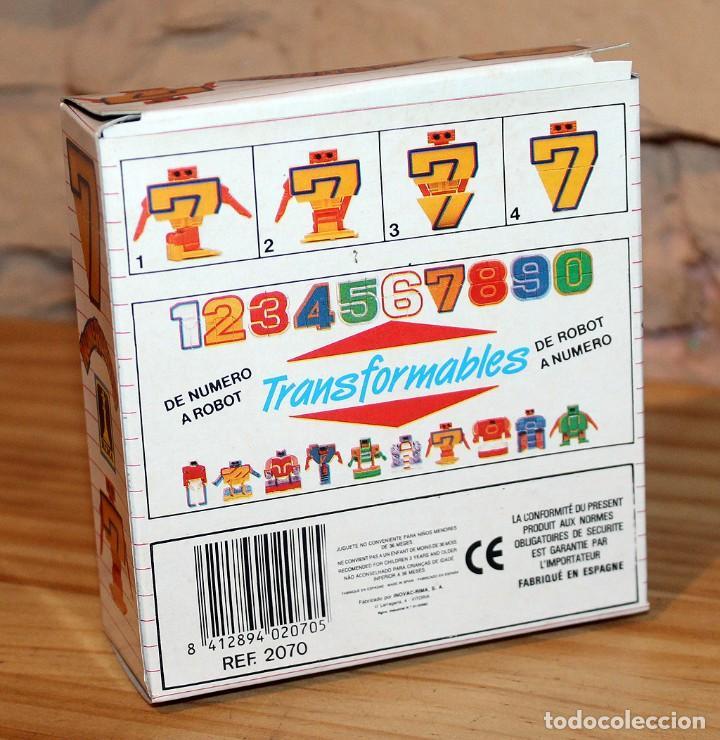 Figuras y Muñecos Transformers: NUMEROBOTS - ROBOT TRANSFORMABLE - NUMERO 7 - RIMA - EN SU CAJA ORIGINAL - AÑOS 80 - Foto 7 - 222798798