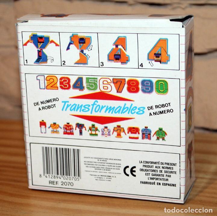 Figuras y Muñecos Transformers: NUMEROBOTS - ROBOT TRANSFORMABLE - NUMERO 4 - RIMA - EN SU CAJA ORIGINAL - AÑOS 80 - Foto 5 - 222798828