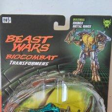 Figuras y Muñecos Transformers: BEAST WARS BIOCOMBAT TRANSFORMERS TRANSMETALS.MAXIMAL RINO.HASBRO 1998.SIN ABRIR.. Lote 268871644
