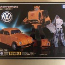 Figuras y Muñecos Transformers: COCHE A ESCALA TRANFORMERS MASTERPIECE BUMBLE VOLKSWAGEN TYPE 1, TAKASA TONY. Lote 237297870