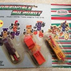 Figuras y Muñecos Transformers: COMBINABLE MICROBOT - CONSTRUCTOR - GLOBO. Lote 241445420