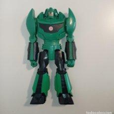 Figuras y Muñecos Transformers: TRANSFORMERS VERDE GRIMLOCK 30 CM. HASBRO. PLÁSTICO DURO. Lote 254326500