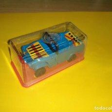 Figuras y Muñecos Transformers: JUGUETE COCHE PLÁSTICO. GISIMA TRANSFORMERS. JEEP AZUL, CAJA ROJA NUEVO 80/90 TRANSFORMER. Lote 276566373