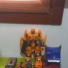 Figuras y Muñecos Transformers: CAMIONES Y HELICÓPTERO ROBOT OBTIMUS PRAY. Lote 280403903
