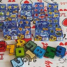 Figuras y Muñecos Transformers: NUMEROBOTS CADA NUMERO ES UN ROBOT Y JUNTOS HACEN UNO GRANDE. Lote 283790973