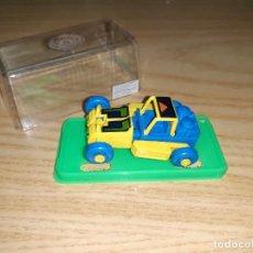 Figuras y Muñecos Transformers: JUGUETE COCHE PLÁSTICO. GISIMA TRANSFORMERS. BUGGY AZUL AMARILLO, CAJA VERDE NUEVO 80/90 TRANSFORMER. Lote 287558843