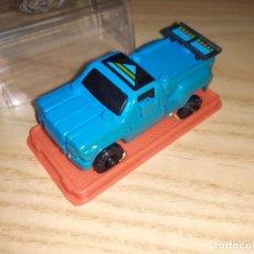 Figuras y Muñecos Transformers: JUGUETE COCHE PLÁSTICO. GISIMA TRANSFORMERS. FURGONETA PICK-UP AZUL, CAJA ROJA 80/90 TRANSFORMER. Lote 287560188