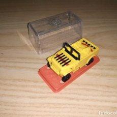 Figuras y Muñecos Transformers: JUGUETE COCHE PLÁSTICO. GISIMA TRANSFORMERS. JEEP AMARILLO, CAJA ROJA NUEVO 80/90 TRANSFORMER. Lote 287560828