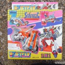 Figuras y Muñecos Transformers: W-JETCAR X PLAN STRATEGIC 2 IN 1 LH-733, MADE IN TAIWAN. Lote 288564283