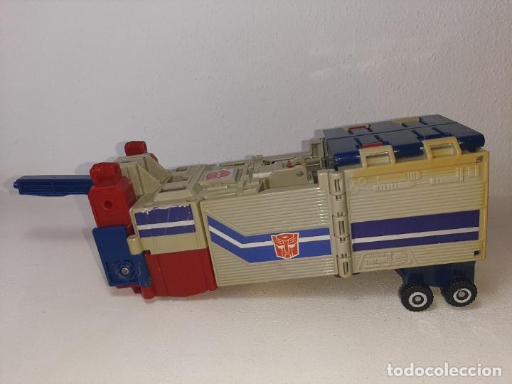 TRANSFORMERS : ANTIGUO TRAILER OPTIMUS PRIME POWERMASTER GENERACION 1 HASBRO TAKARA AÑO 1987 (Juguetes - Figuras de Acción - Transformers)